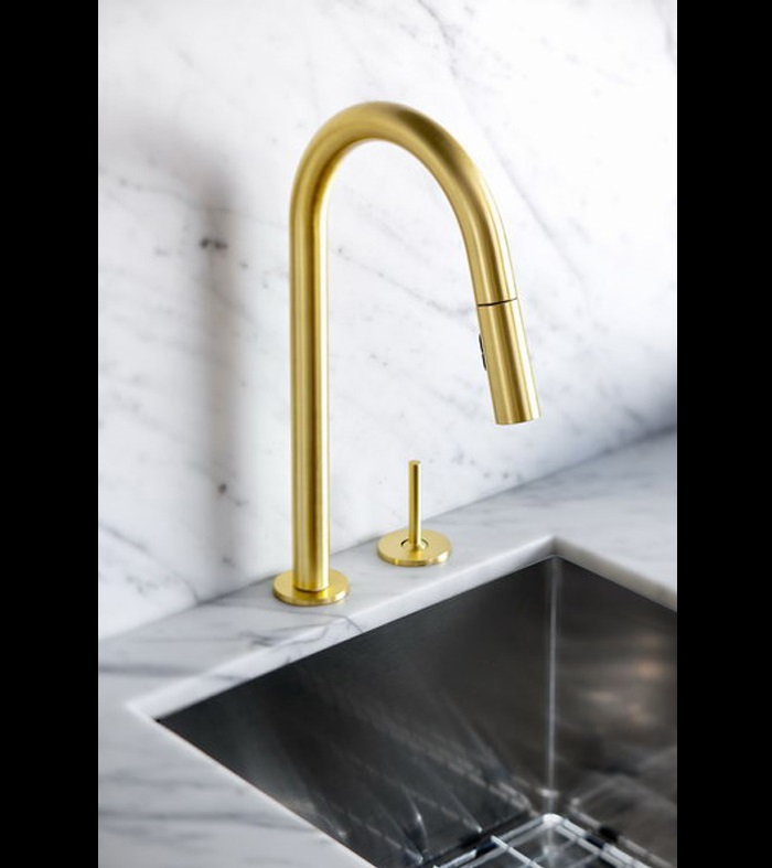 GOLD IS CHIC AND MODERN: BRASS FIXTURES TO UPGRATE YOUR KITCHEN  Yanic Simard Renovates His Kitchen Decor 310