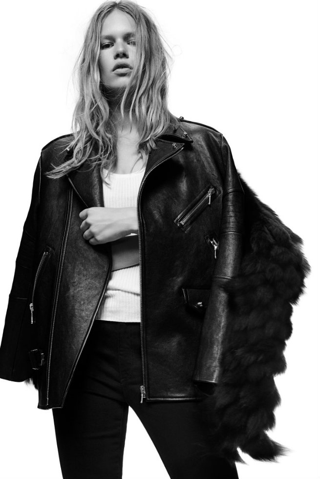 Alexander Wang's 10th Anniversary Limited Edition Collection Is Now Available  Alexander Wang's 10th Anniversary Limited Edition Collection Is Now Available LOOK 02 ALEXANDER WANG FW09 JACKET 750x1123