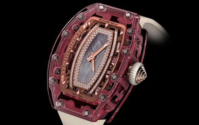 Entirely Pink Sapphire Watch by Richard Mille  Entirely Pink Sapphire Watch by Richard Mille 14