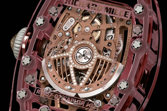 Entirely Pink Sapphire Watch by Richard Mille  Entirely Pink Sapphire Watch by Richard Mille 33
