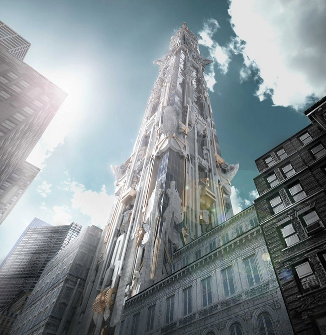 Gargoyle-covered skyscraper for New York is proposed by Mark Foster Gage  Gargoyle-covered skyscraper for New York is proposed by Mark Foster Gage 4