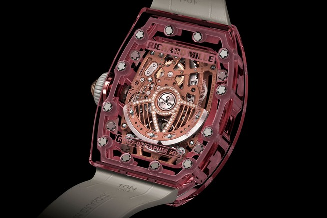 Entirely Pink Sapphire Watch by Richard Mille  Entirely Pink Sapphire Watch by Richard Mille 42