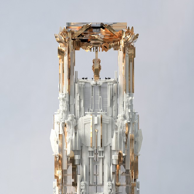 Gargoyle-covered skyscraper for New York is proposed by Mark Foster Gage  Gargoyle-covered skyscraper for New York is proposed by Mark Foster Gage 61