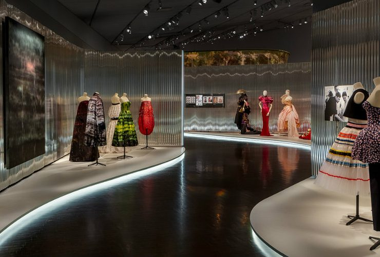 dior Denver Art Museum Welcomes Dior Exhibition Designed by OMA featured 4 740x500