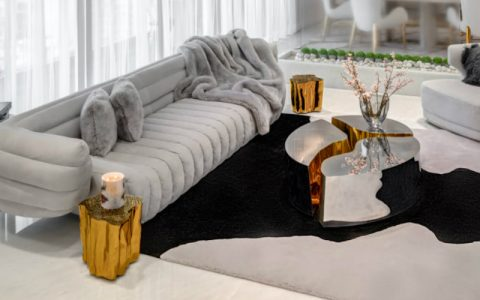 home design A Reflective White and Gold Trendsetting Home Design feature 480x300