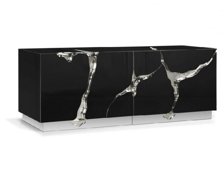 modern furniture Lapiaz In Black: An Iconic Modern Furniture Piece By Boca do Lobo lapiaz sideboard HR 11 740x560