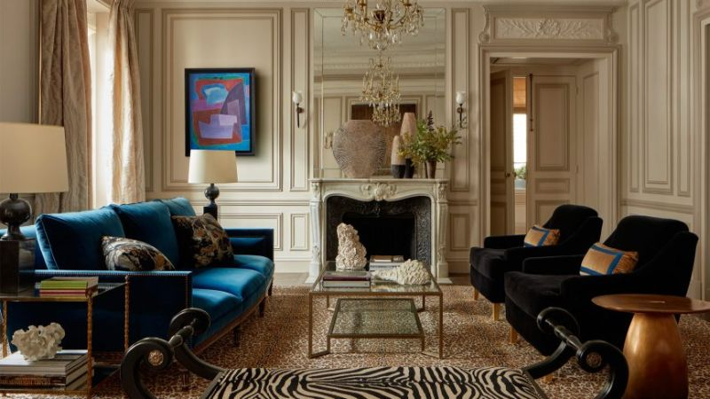 champeau & wiled interior design project top interior designers French Top Interior Designers You Need To Know Paris apartment vintage interiors Champeau Wilde 800x450