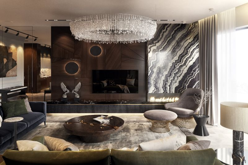 Earth Tones Set The Mood In This Luxury Moscow Apartment