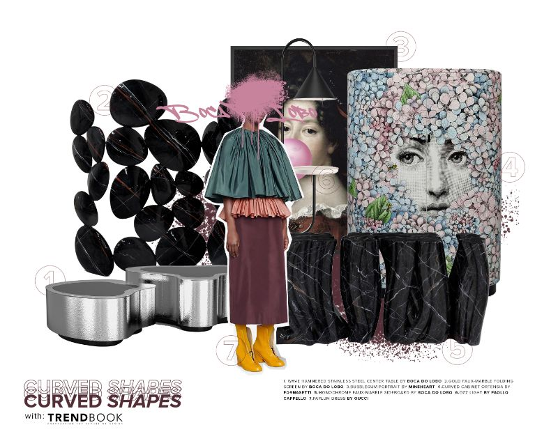 Curved Shapes Design Inspirations A Moodboard Powered By Trendbook