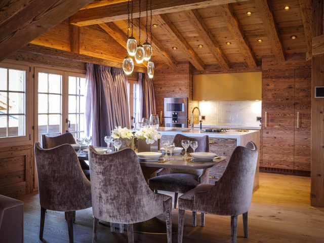 Exclusive Rustic Chalet In The Swiss Montains By Rougemont Interiors (4) rougemont interiors Empire Center Table Shines In This Rougemont Interiors Project Exclusive Rustic Chalet In The Swiss Montains By Rougemont Interiors 4
