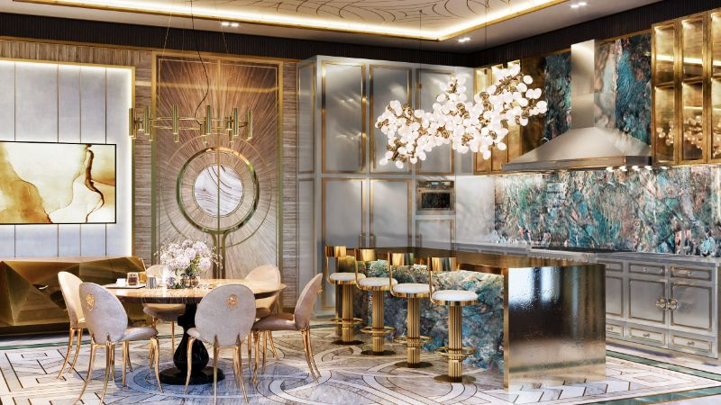 moscow mansion Elena Krylova Designs An Opulent And Glamorous Moscow Mansion 002  c1