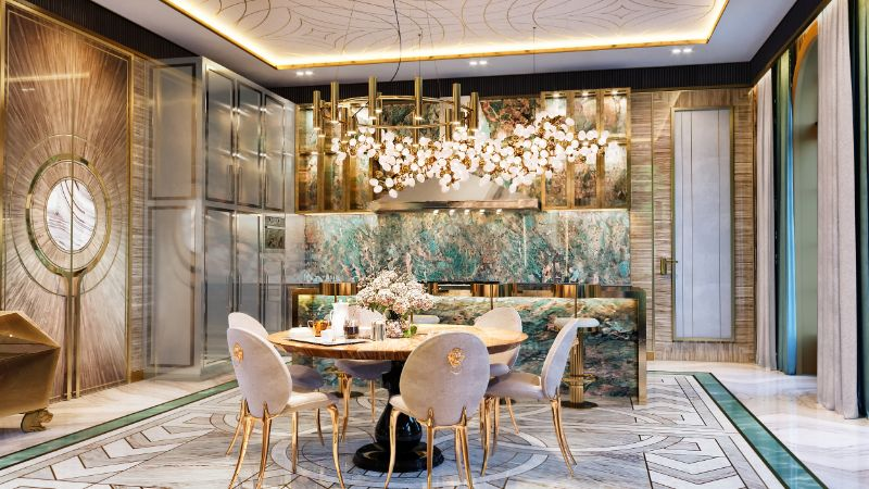 moscow mansion Elena Krylova Designs An Opulent And Glamorous Moscow Mansion 003  c1