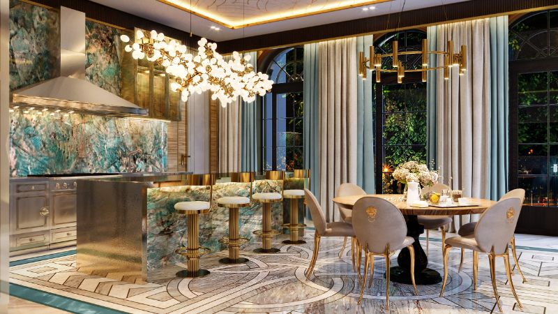 moscow mansion Elena Krylova Designs An Opulent And Glamorous Moscow Mansion 004  c1