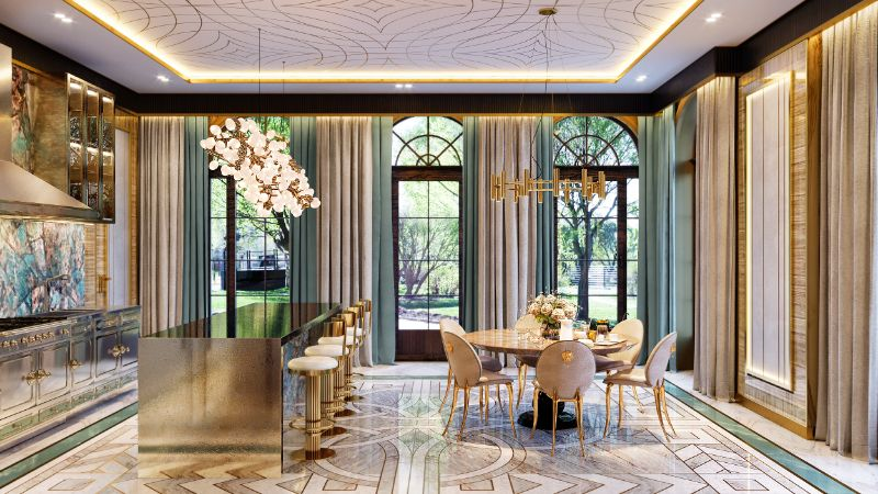 moscow mansion Elena Krylova Designs An Opulent And Glamorous Moscow Mansion 005  c1