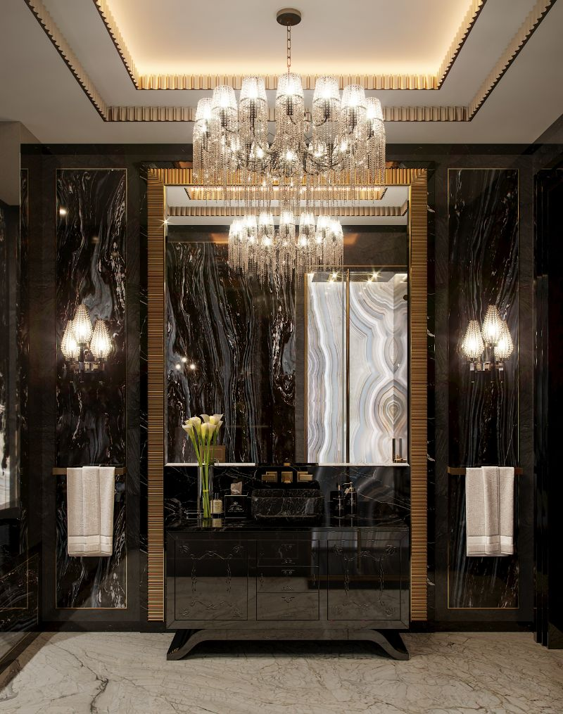 Elena Krylova Designs An Opulent And Glamorous Moscow Mansion moscow mansion Elena Krylova Designs An Opulent And Glamorous Moscow Mansion An Over The Top Luxury Manor In Moscow by Elena Krylova 15