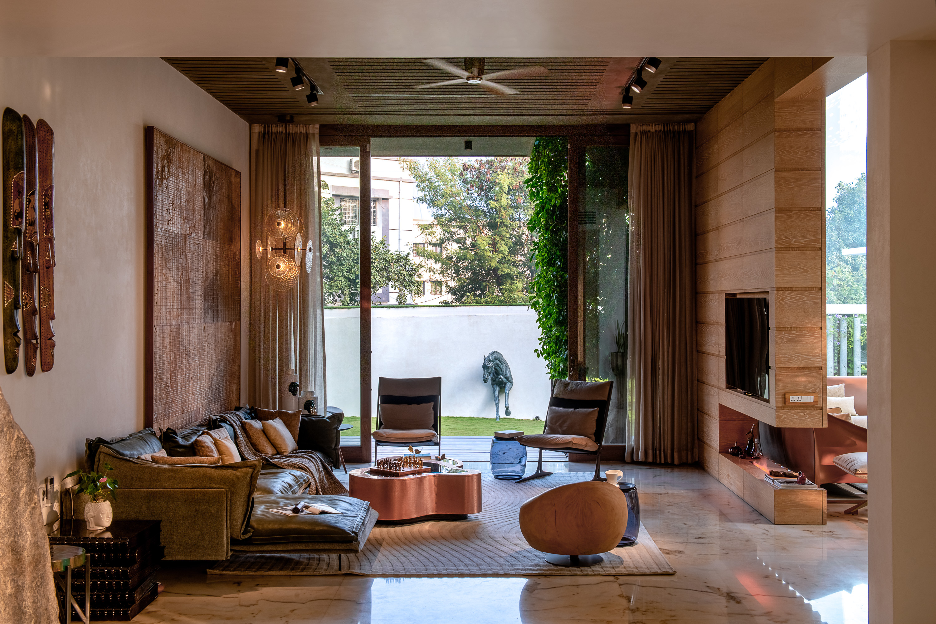Sustainability Meets Luxury In This Private Residence by NA Architects (4) na architects NA Architects Design A Private Residence Where Copper Hues Reign Sustainability Meets Luxury In This Private Residence by NA Architects 4