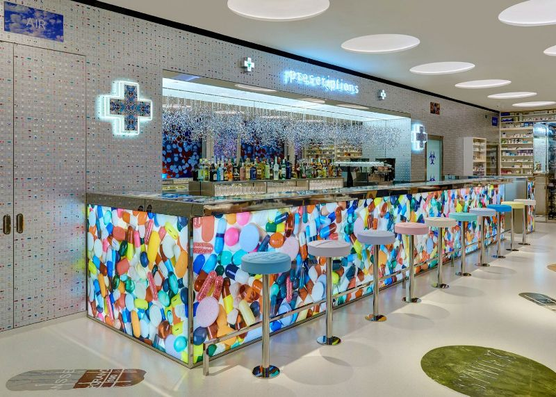 Restaurant Designs Where Contemporary Art Takes Centre Stage restaurant design Restaurant Designs Where Contemporary Art Takes Centre Stage Pharmacy Restaurant
