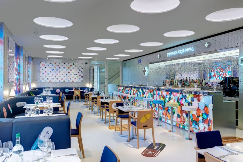 Restaurant Designs Where Contemporary Art Takes Centre Stage restaurant design Restaurant Designs Where Contemporary Art Takes Centre Stage Pharmacy Restaurant1