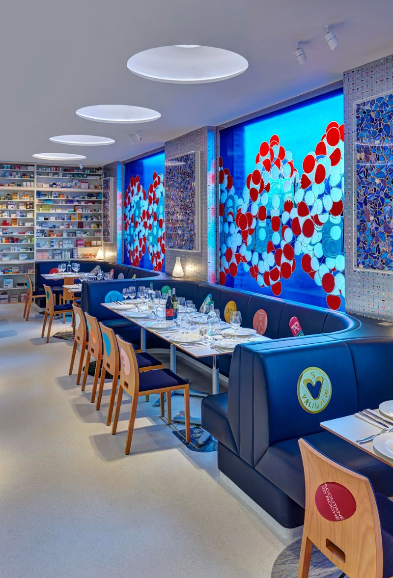 Restaurant Designs Where Contemporary Art Takes Centre Stage restaurant design Restaurant Designs Where Contemporary Art Takes Centre Stage Pharmacy Restaurant2