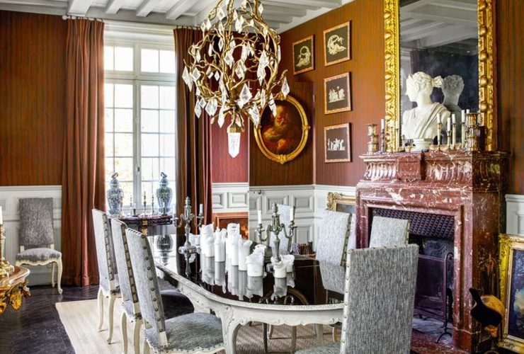 Jean-Louis Deniot Restores An Over-The-Top Historic French Manor ft jean-louis deniot Jean-Louis Deniot Restores An Over-The-Top Historic French Manor Jean Louis Deniot Restores An Over The Top Historic French Manor ft 740x500