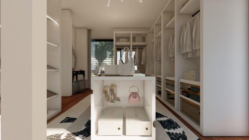 Walk-In Closets Of Your Dreams: Intimate and Elegant Spaces For You walk-in closets Dreamy Walk-In Closets That Will Elevate Your Entire Bedroom Design Tailored For You Boca do Lobo And Jimmy Choos Luxury Walk In Closet 12