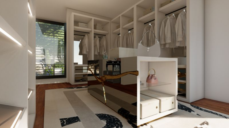 Walk-In Closets Of Your Dreams: Intimate and Elegant Spaces For You walk-in closets Dreamy Walk-In Closets That Will Elevate Your Entire Bedroom Design Tailored For You Boca do Lobo And Jimmy Choos Luxury Walk In Closet 9