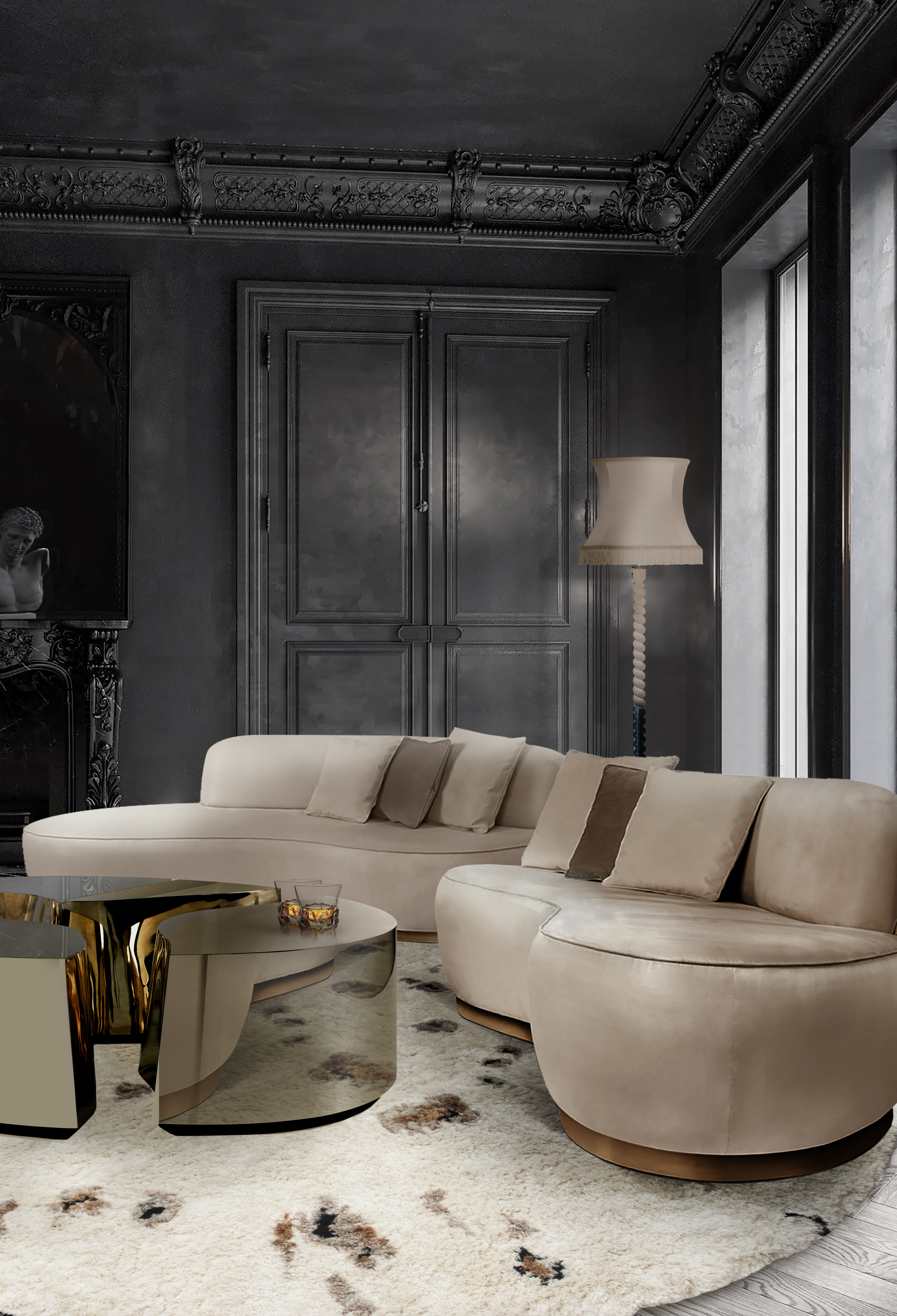 modern furniture Neutral Hues In Modern Furniture Designs For A Contemporary Home odette sofa 3