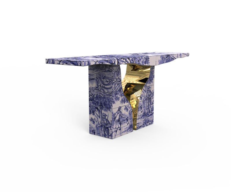 Luxury Furniture Designs Featuring The Art Of Hand-Painted Tiles furniture design Luxury Furniture Designs Featuring The Art Of Hand-Painted Tiles lapiaz tiles console 02