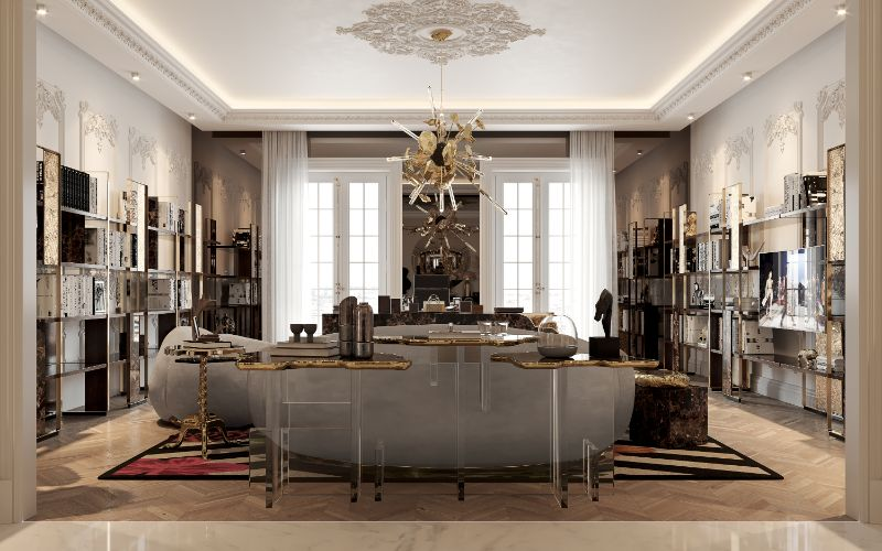 A Luxury Office Setting For An Architect's Millionaire Penthouse luxury office A Luxury Office Setting You'll Want To Work In Everyday, And How To Achieve It! A Luxury Office Setting For An Architects Millionaire Penthouse 2