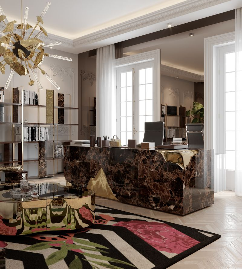 House Tour Of A Luxurious Paris Penthouse - Exclusive Interview With Boca do Lobo Design Team! boca do lobo Exclusive Interview With Boca do Lobo Design Studio – The Full House Tour A Luxury Office Setting For An Architects Millionaire Penthouse 1 1