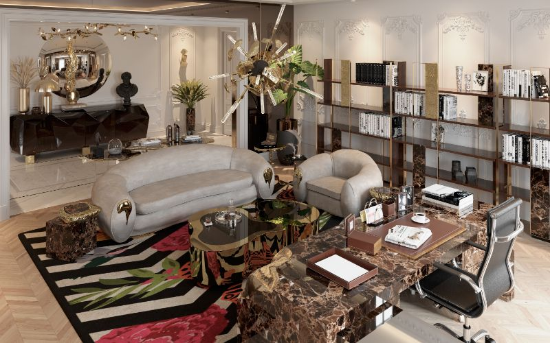 House Tour Of A Luxurious Paris Penthouse - Exclusive Interview With Boca do Lobo Design Team! boca do lobo Exclusive Interview With Boca do Lobo Design Studio – The Full House Tour A Luxury Office Setting For An Architects Millionaire Penthouse 3
