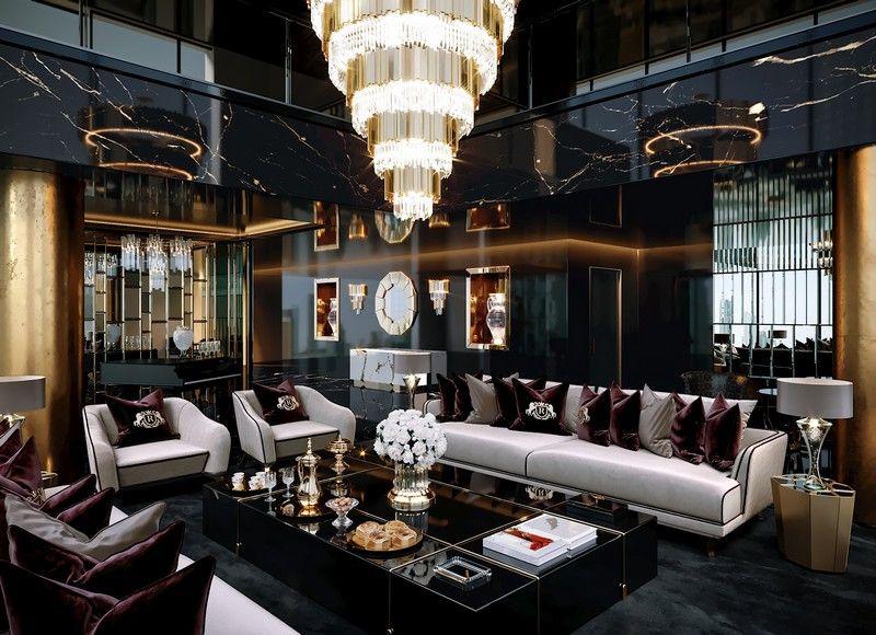 Dubai Exclusive Lifestyle: 7 Luxury Living Room Designs luxury living room Dubai Exclusive Lifestyle: 7 Luxury Living Room Designs Contemporary Luxury Interior Design Project by Celia Sawyer 3 1