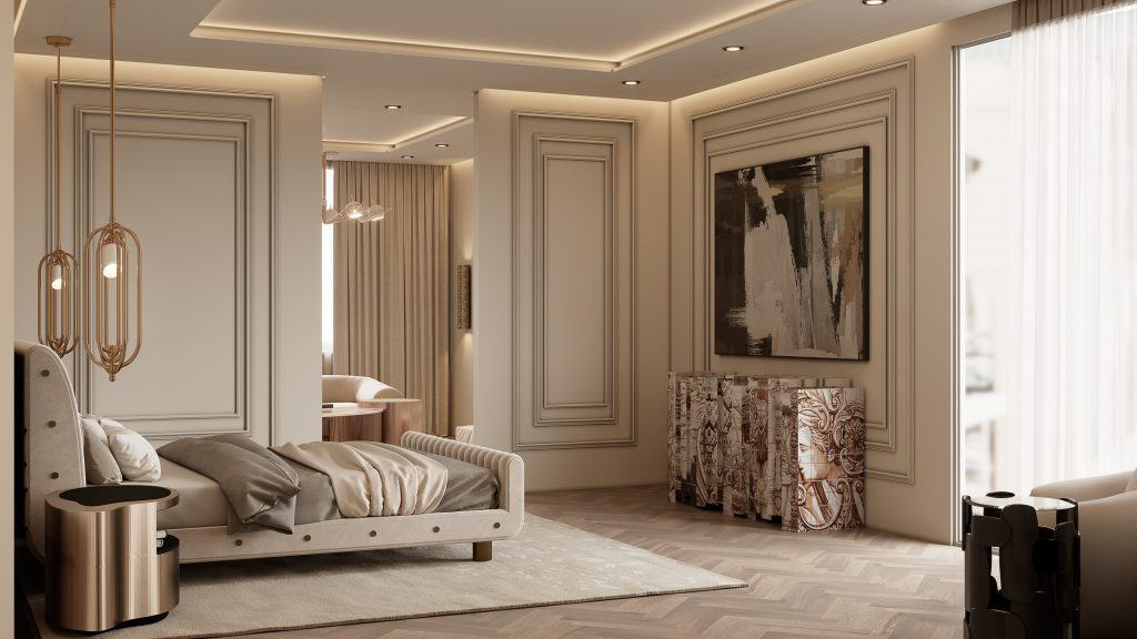 interior design project Interior Design Projects From Monaco, Filled With Luxury and Glamour Contemporary Modern 16 Million Penthouse by Covet House 1024x576