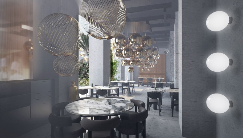 interior design project The Most Exquisite And Best Interior Design Projects In Milan The Manzioni in Milan     A Restaurant Design Project by Tom Dixon 8