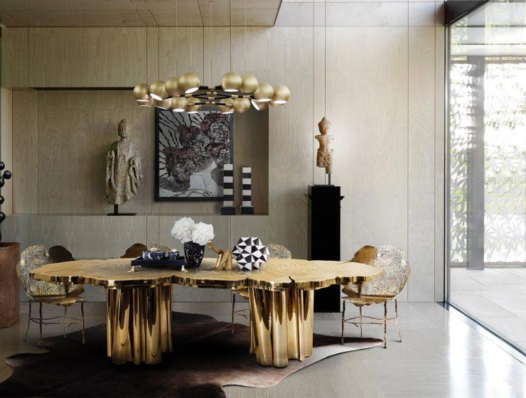 dining room Luxury Dining Room Ideas That Will Inspire You 1590639490357 740x560 boca do lobo blog Boca do Lobo Blog 1590639490357 740x560