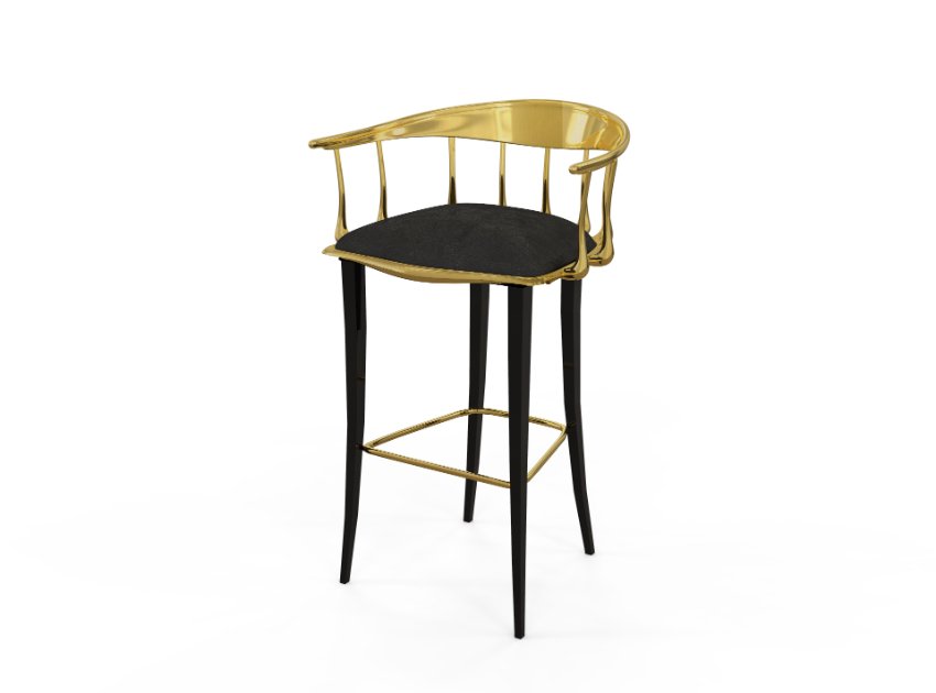 dining room Luxury Dining Room Ideas That Will Inspire You N11 BLACK GOLD BAR STOOL 1 2
