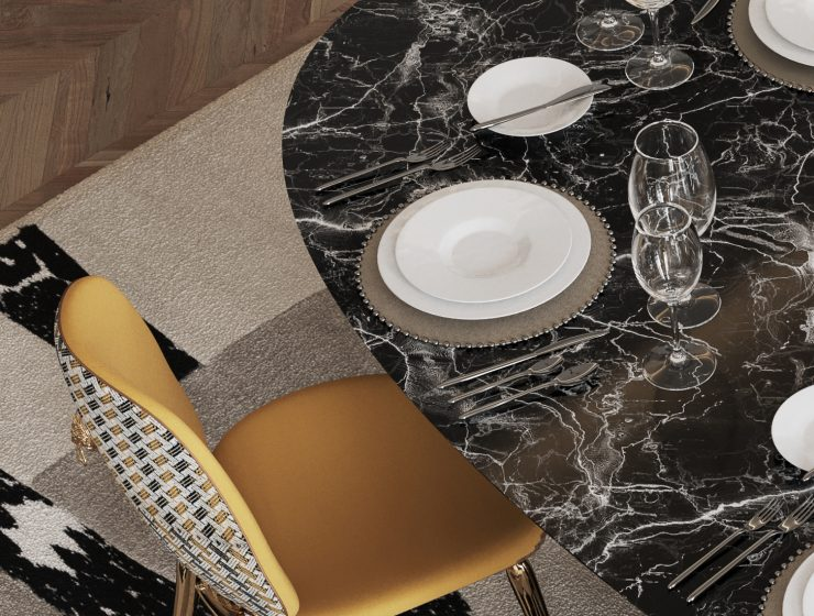 dining room Are You Going To Renovate Your Dining Room? Here Are 6 Inspirations For You! bl dark marble luxury dining table 1 1 740x560 boca do lobo blog Boca do Lobo Blog bl dark marble luxury dining table 1 1 740x560
