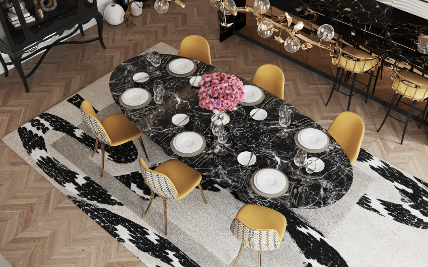 dining room Are You Going To Renovate Your Dining Room? Here Are 6 Inspirations For You! bl dark marble luxury dining table 1
