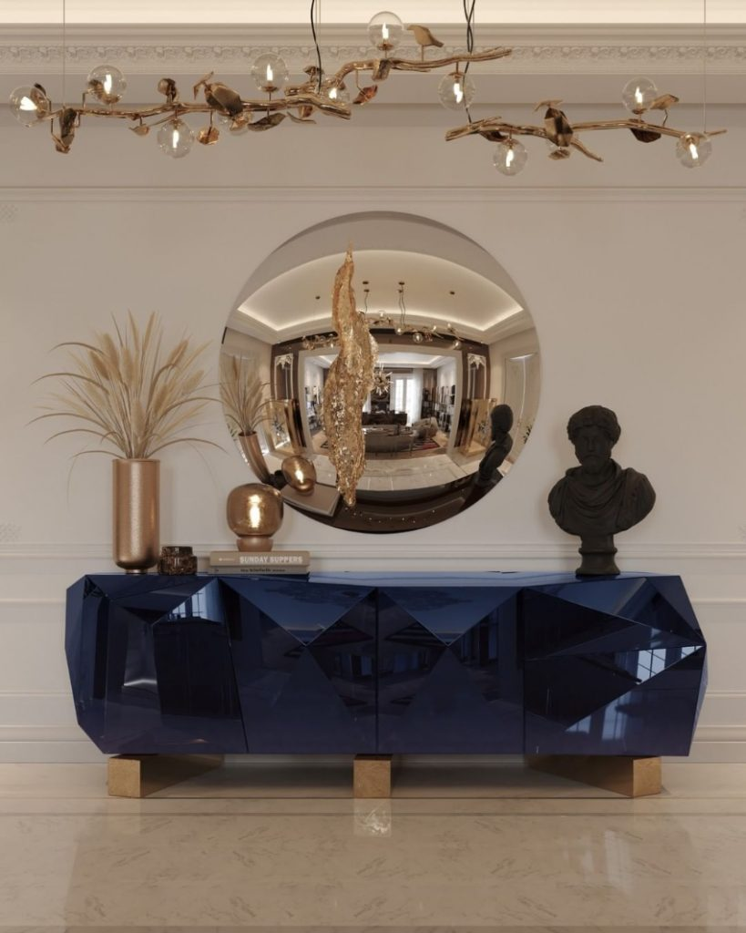 dining room Are You Going To Renovate Your Dining Room? Here Are 6 Inspirations For You! bl diamond blue contemporary sideboard 2 819x1024