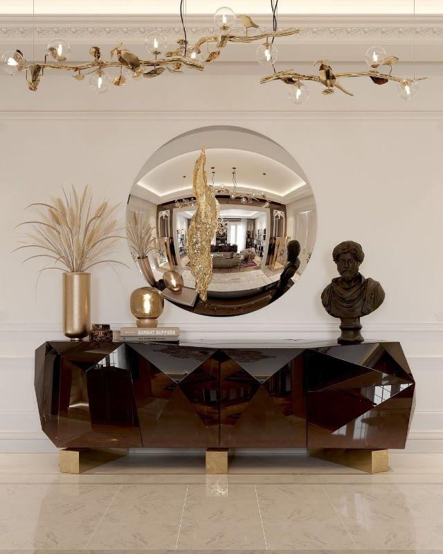 Luxury mirror Luxury mirror to improve your luxury home bl diamond-chocolate modern sideboard 1