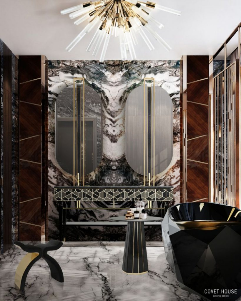 Exclusive Furniture Ideas For A Sophisticated Home  exclusive furniture Exclusive Furniture Ideas For A Sophisticated Home bl luxury dark bathroom 819x1024 1