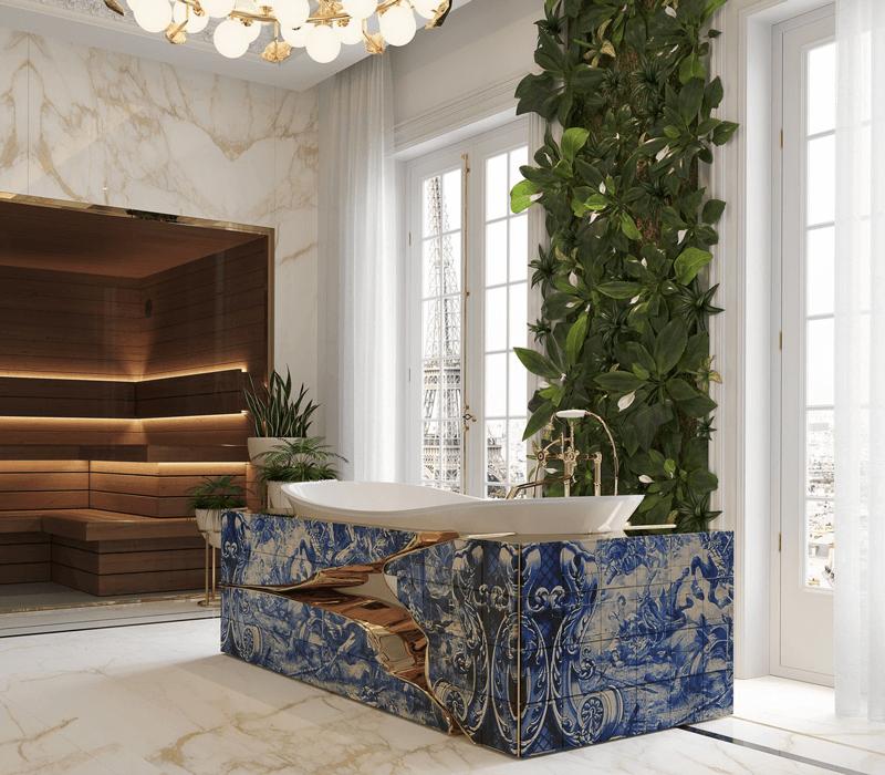 hand-painted tile The Wonders Of Craftsmanship – Details Of Hand-Painted Tiles heritage bathtub 04 boca do lobo
