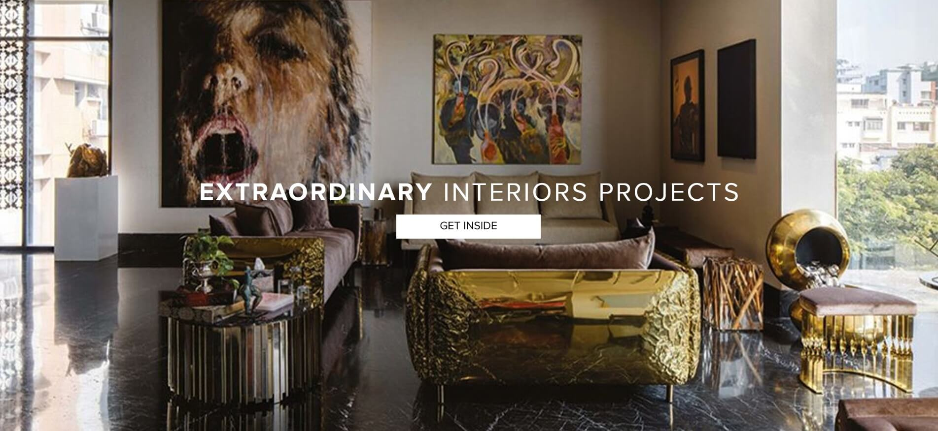 Extraordinary Interiors Project - Get Inside  Homepage banner projects