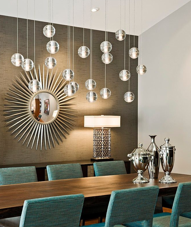 20 Remarkable Modern Hallway Designs That Will Inspire You: Refined Dining Room Decoration