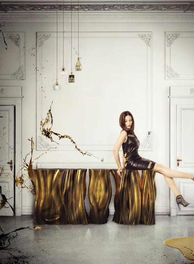 Organic shapes of Luxury  Organic Shapes of Luxury monochrome gold