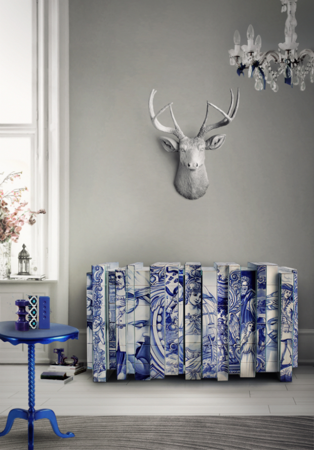 5 Pieces With Art navy blue Navy Blue Design Inspiration for this Summer heritage sideboard1