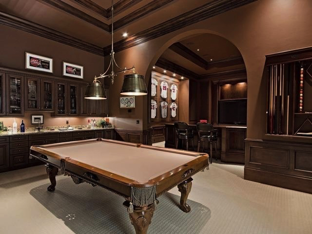 50 Playing Tables for a Modern Gaming Room modern gaming room 50 Playing Tables for a Modern Gaming Room Snooker Brown 1  20 Playing Tables for a Modern Gaming Room Snooker Brown 1