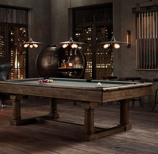 50 Playing Tables for a Modern Gaming Room modern gaming room 50 Playing Tables for a Modern Gaming Room Snooker Brown 2  20 Playing Tables for a Modern Gaming Room Snooker Brown 2