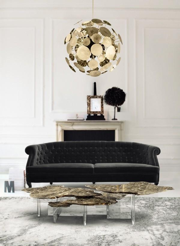 center tables 50 Modern Center Tables for a Luxury Living Room monet acrylic base center