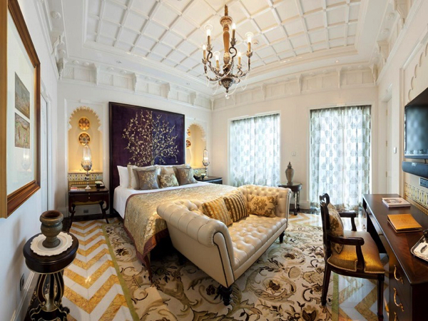 Luxury Bedroom Decor master bedroom Fresh Decoration Trends for the Master Bedroom Taj Rajput Suite bedroom